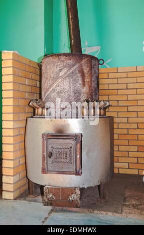 Big metal furnace for heating - Stock Photo