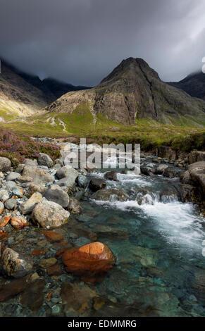 the fairy pools glen brittle isle of skye - Stock Photo