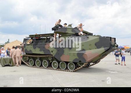 A AAV-7 armored amphibious assault vehicle. - Stock Photo