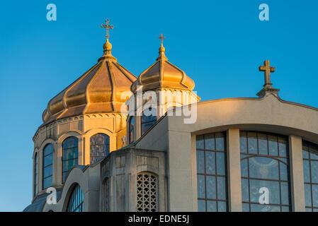 St. Mary's Ukrainian Catholic Church, Vancouver, British Columbia, Canada - Stock Photo