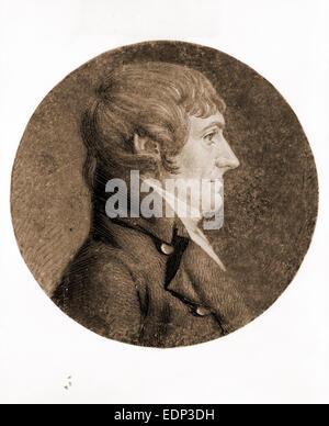 [William Plumer, head-and-shoulders portrait, right profile]; Saint-Mémin, Charles Balthazar Julien Fevret de, 1770 - Stock Photo