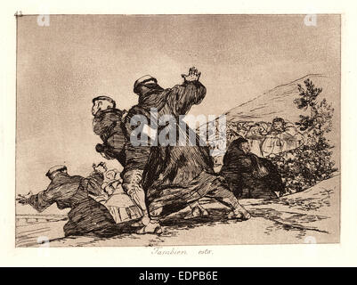 Francisco de Goya (Spanish, 1746-1828). This Too (Tambien Esto), 1810-1815, printed 1863. From The Disasters of - Stock Photo