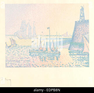 Paul Signac (French, 1863 - 1935). Evening (Le Soir), 1898. Color lithograph printed in five colors on India paper - Stock Photo