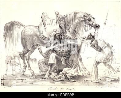 Antoine-Jean Gros (French, 1771 - 1835). Arab of the Desert (Arabe du désert), 1817. Lithograph - Stock Photo