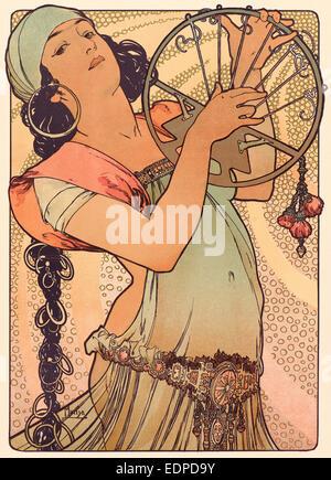 Alphonse Mucha (Czech, 1860 - 1939). Salomé, ca. 1897. Color lithograph on wove paper - Stock Photo