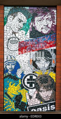 Mosaic, Affleck's Palace, Northern Quarter, Manchester - Stock Photo