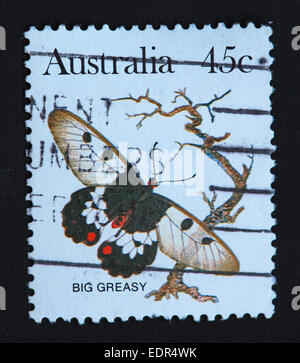 Used and postmarked Australia / Austrailian Stamp Big Greasy 45c - Stock Photo
