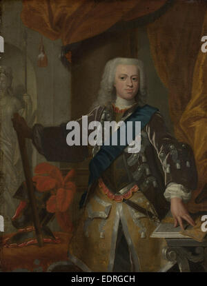 Portrait of William IV, Prince of Orange, attributed to Hans Hysing, 1730 - 1753 - Stock Photo