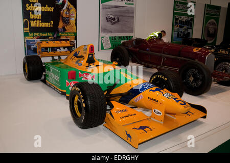 Michael Schumacher's 1993 Benetton B193 on show at the London Classic car show at the Excel - Stock Photo