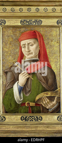 Saint Damian (or Cosmas), attributed to Bartolommeo Vivarini, 1465 - 1480 - Stock Photo