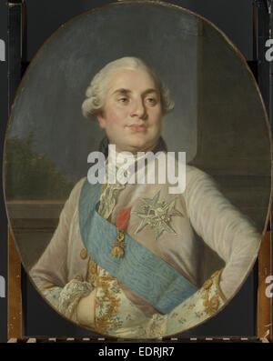 Portrait of Louis XVI, King of France, workshop of Joseph Siffrède Duplessis, c. 1777 - c. 1789 - Stock Photo