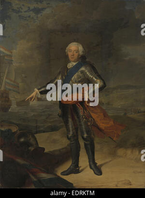 Portrait of William IV, Prince of Orange, Jacques André Joseph Camelot Aved, 1751 - Stock Photo