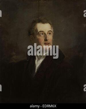 Portrait of Arthur Wellesley, Duke of Wellington, Jan Willem Pieneman, 1821 - Stock Photo