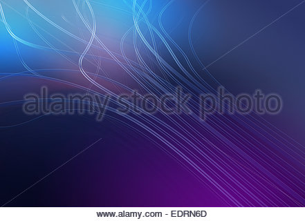Abstract flowing cables - Stock Photo