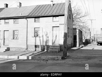 Lancaster, Pennsylvania - Housing. Low-priced houses on Cabbage Hill - rental about $12.00 per month (umbrella factory) - Stock Photo