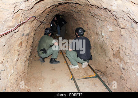 San Diego Tunnel Task Force explorer a sophisticated 560 meter long tunnel used for drug smuggling along the U.S. - Stock Photo
