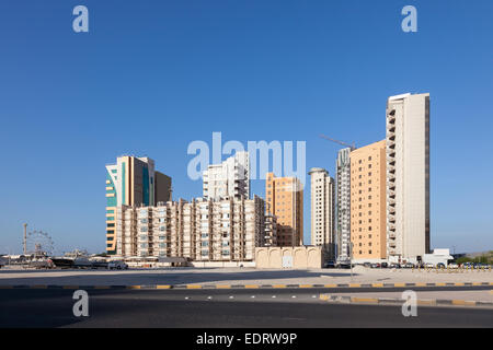 Residential buildings in the city of Kuwait, Middle East - Stock Photo