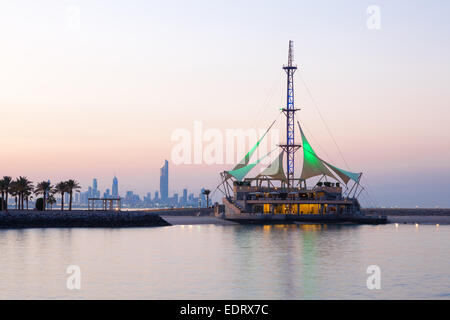 Marina Beach in Kuwait City, Middle East - Stock Photo