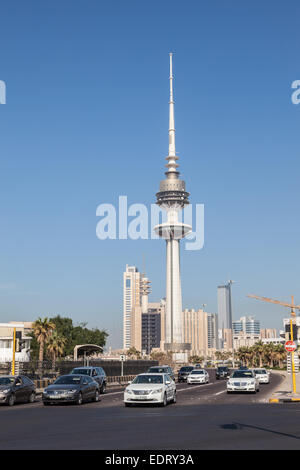 Liberation Tower in Kuwait City - Stock Photo