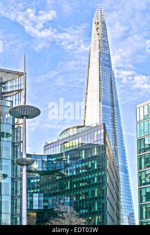 LONDON THE SHARD TOWER AND BUILDINGS WITHIN MORE LONDON PLACE NEAR TOWER BRIDGE - Stock Photo