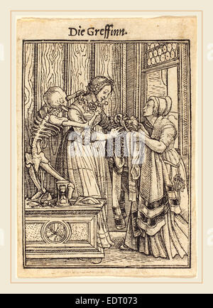Hans Holbein the Younger (German, 1497-1498-1543), Countess, woodcut - Stock Photo