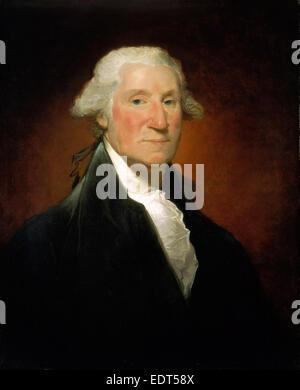 Gilbert Stuart, George Washington (Vaughan portrait), American, 1755-1828, 1795, oil on canvas - Stock Photo