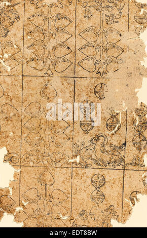 German 16th Century, Playing Card, woodcut - Stock Photo