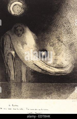 Odilon Redon (French, 1840 - 1916), Le Buddha, 1895, lithograph - Stock Photo
