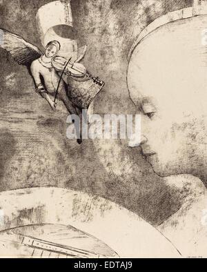 Odilon Redon (French, 1840 - 1916), L'Art Celeste (The Celestial Art), 1894, lithograph - Stock Photo