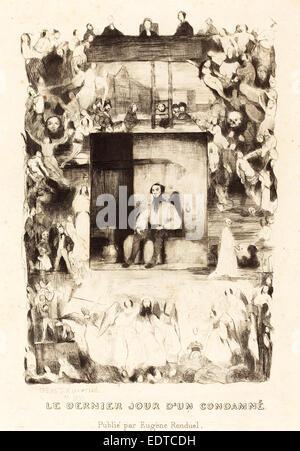 Célestin Nanteuil (French, 1813 - 1873), Le dernier jour d'un condamne, 1833, etching - Stock Photo