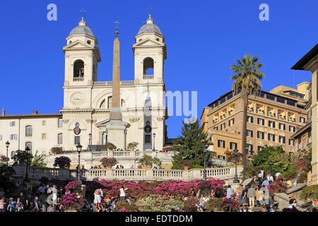 Italien, Rom, Scalinata della Trinita dei Monti die Spanische Treppe am Piazza di Spagna,Italy, Rome, Scalinata - Stock Photo