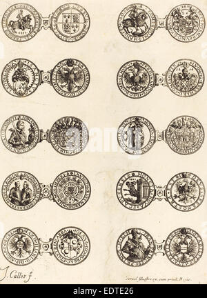 Jacques Callot (French, 1592 - 1635), Coins [plate 5], etching - Stock Photo