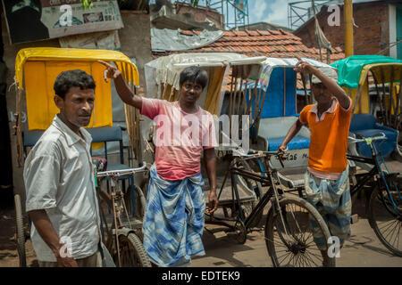 Rickshaw drivers in Tamluk, West Bengal.