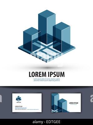 construction. logo, icon, sign, emblem, template - Stock Photo