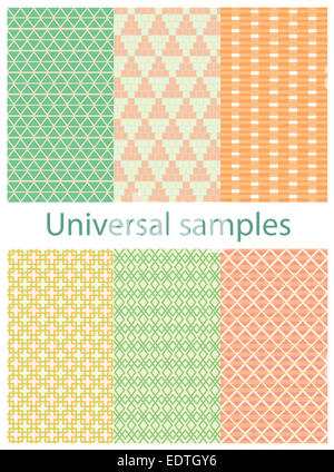 Set from six original samples on a white background. - Stock Photo