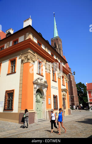 House at Cathedral Island, Ostrow Tumski, Wroclaw, Lower Silesia, Poland, Europe - Stock Photo