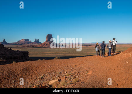 Scenic view at the North Window in Monument Valley - Stock Photo