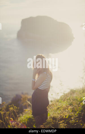a girl in the nature - Stock Photo