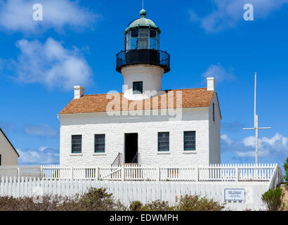 Old Point Loma Lighthouse, Cabrillo National Monument, Point Loma, San Diego, California, USA - Stock Photo