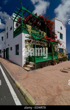 Punta Mujeres fishing village. Lanzarote, Canary Islands, Spain - Stock Photo