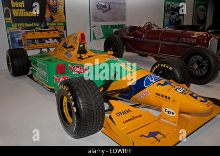 Michael Schumacher's 1993 Benetton B193 at the Classic Car Show in Excel - Stock Photo
