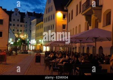 Kempten, Town Hall square, Allgau, Rathausplatz, Allgaeu - Stock Photo