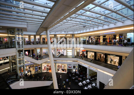 Reforma 222 shopping mall food court in Mexico City, Mexico - Stock Photo