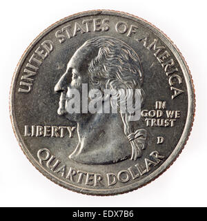American dollar one Quarter coin - Stock Photo