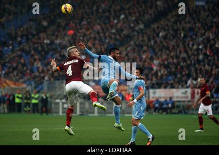 Rome, Italy. 11th January, 2015. Olympic Stadium  Serie A - Italian League - A.s. Roma vs S.S. Lazio , 18° match - Stock Photo