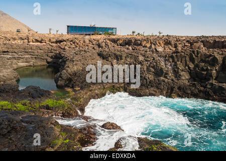 Buracona  in sal Island Cape Verde - Cabo Verde - Stock Photo