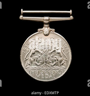 WW2 British Defence Medal - Stock Photo