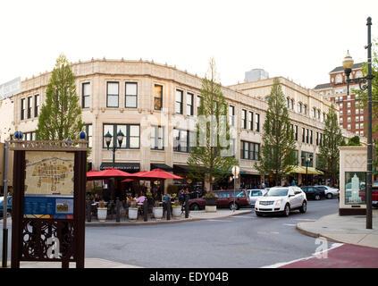 Downtown Asheville, North Carolina - Stock Photo