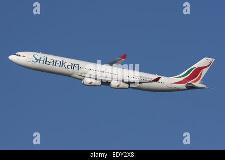 SRILANKAN AIRBUS A340 - Stock Photo