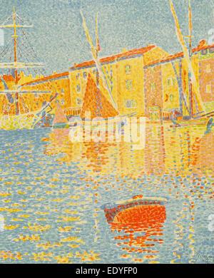 Paul Signac (French, 1863 - 1935), The Buoy (La bouée), 1894, 6-color lithograph - Stock Photo